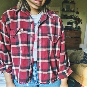 Thick, cotton, vintage flannel